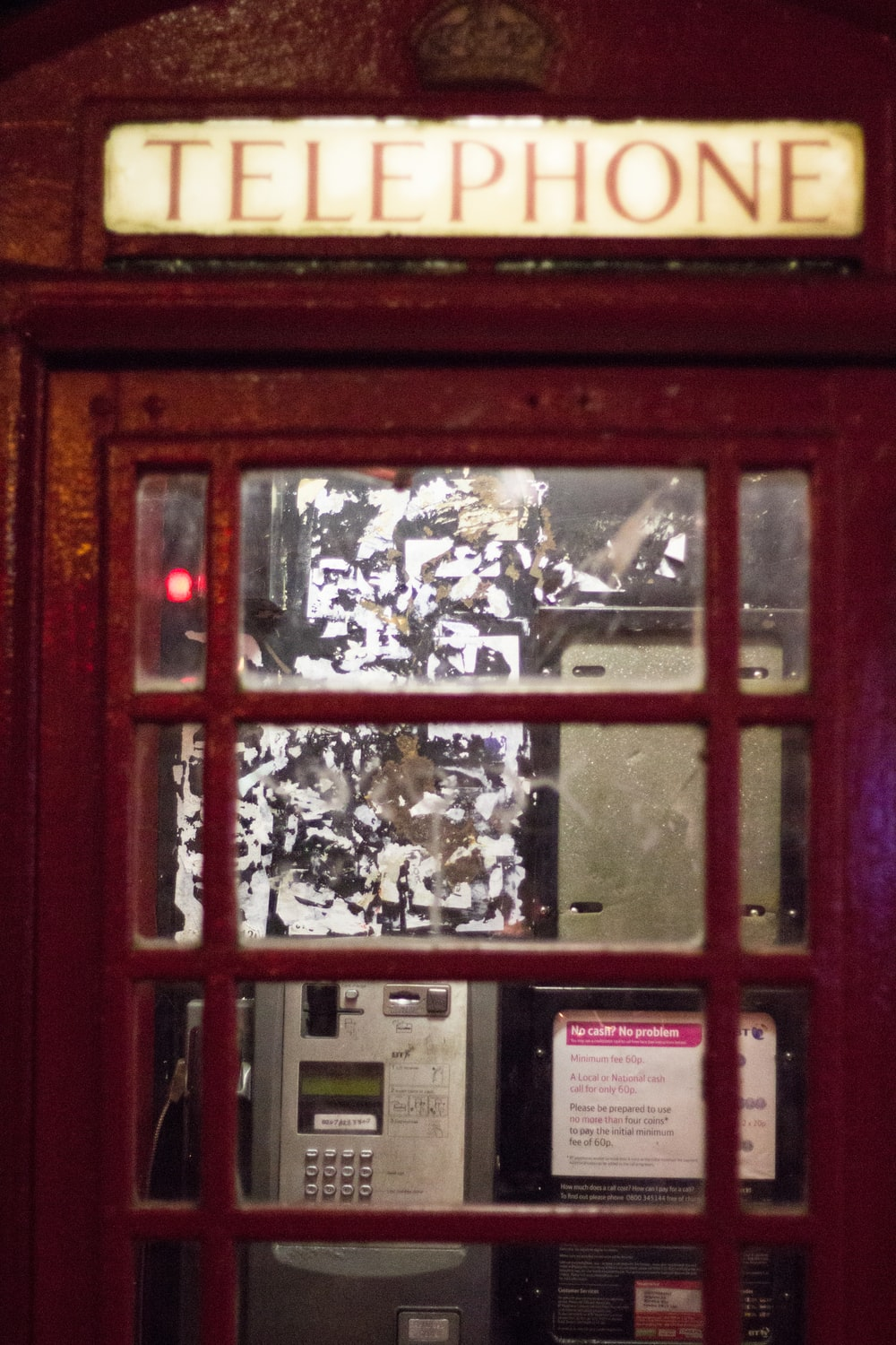 empty telephone booth