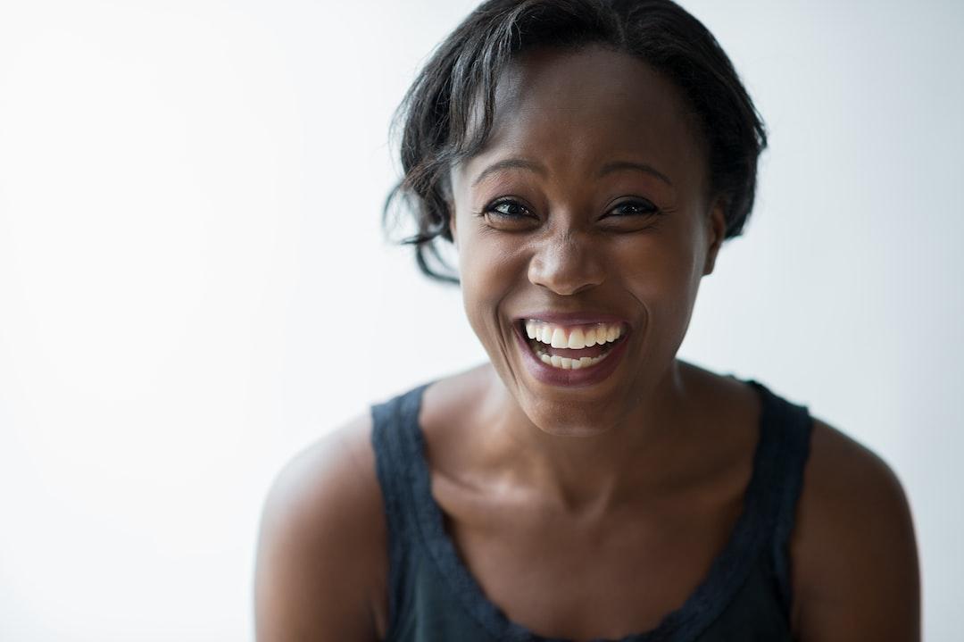 smiling woman with white u003cbu003ebackgroundu003c/bu003e photo u2013 Free People Image ...