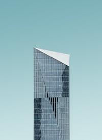 high rise glass building in closeup-photo