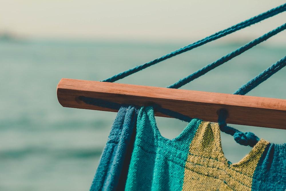 brown wooden hammock based