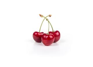 three red cherries
