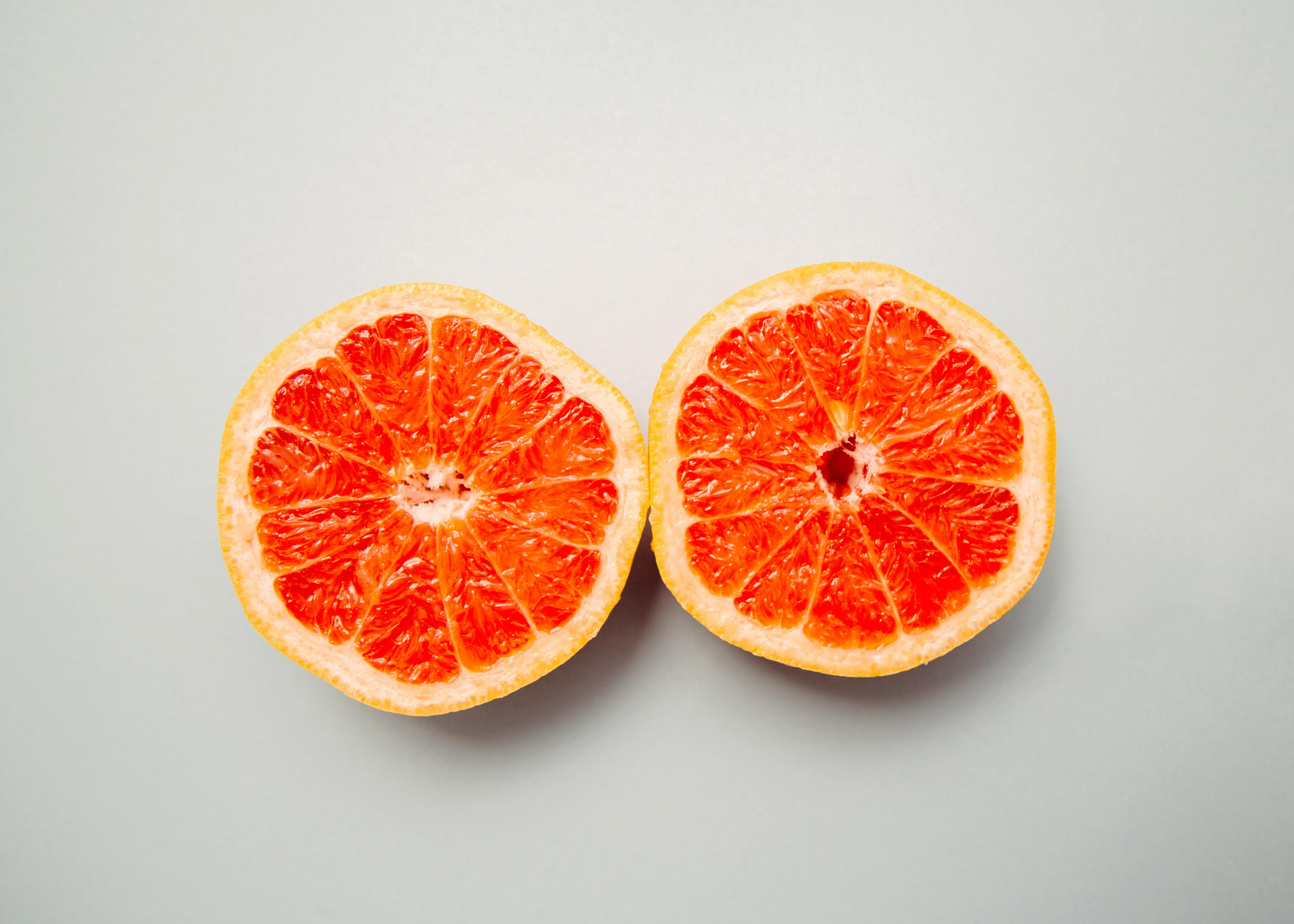 slice grapefruit