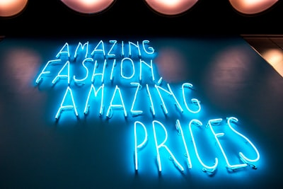 turned on blue amazing fashion amazing prices neon signages fashion zoom background