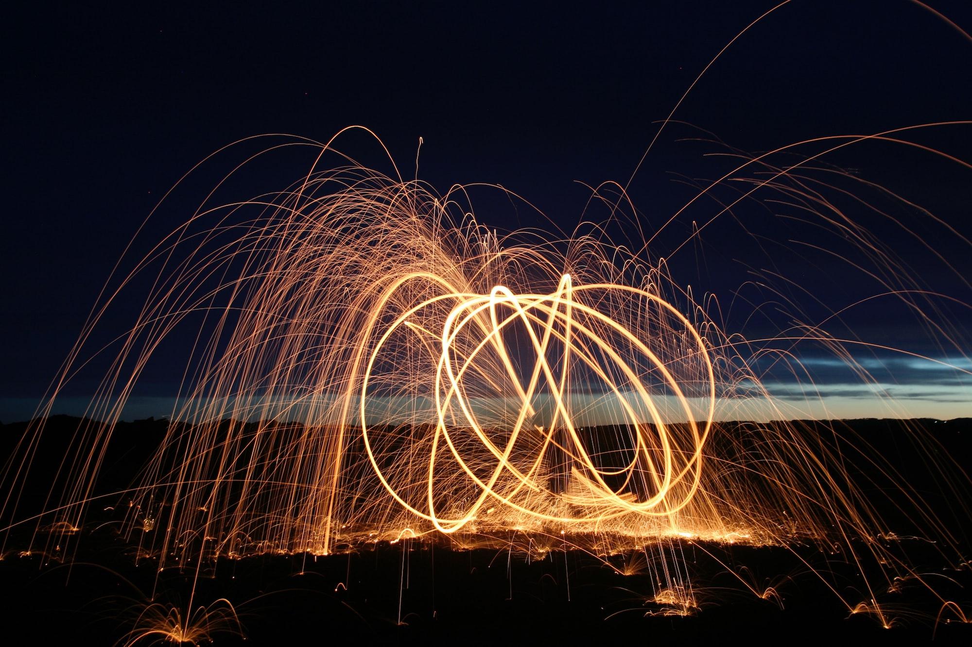Фотографии горящей стальной ваты