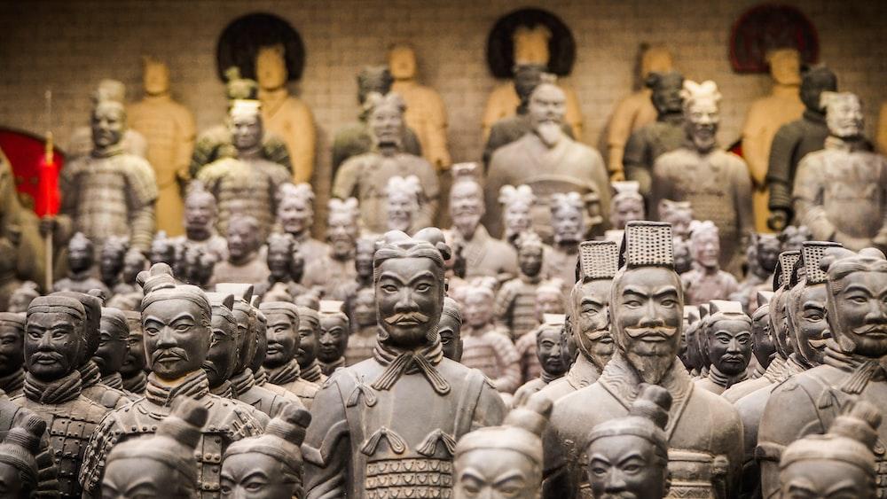 grey statues lot
