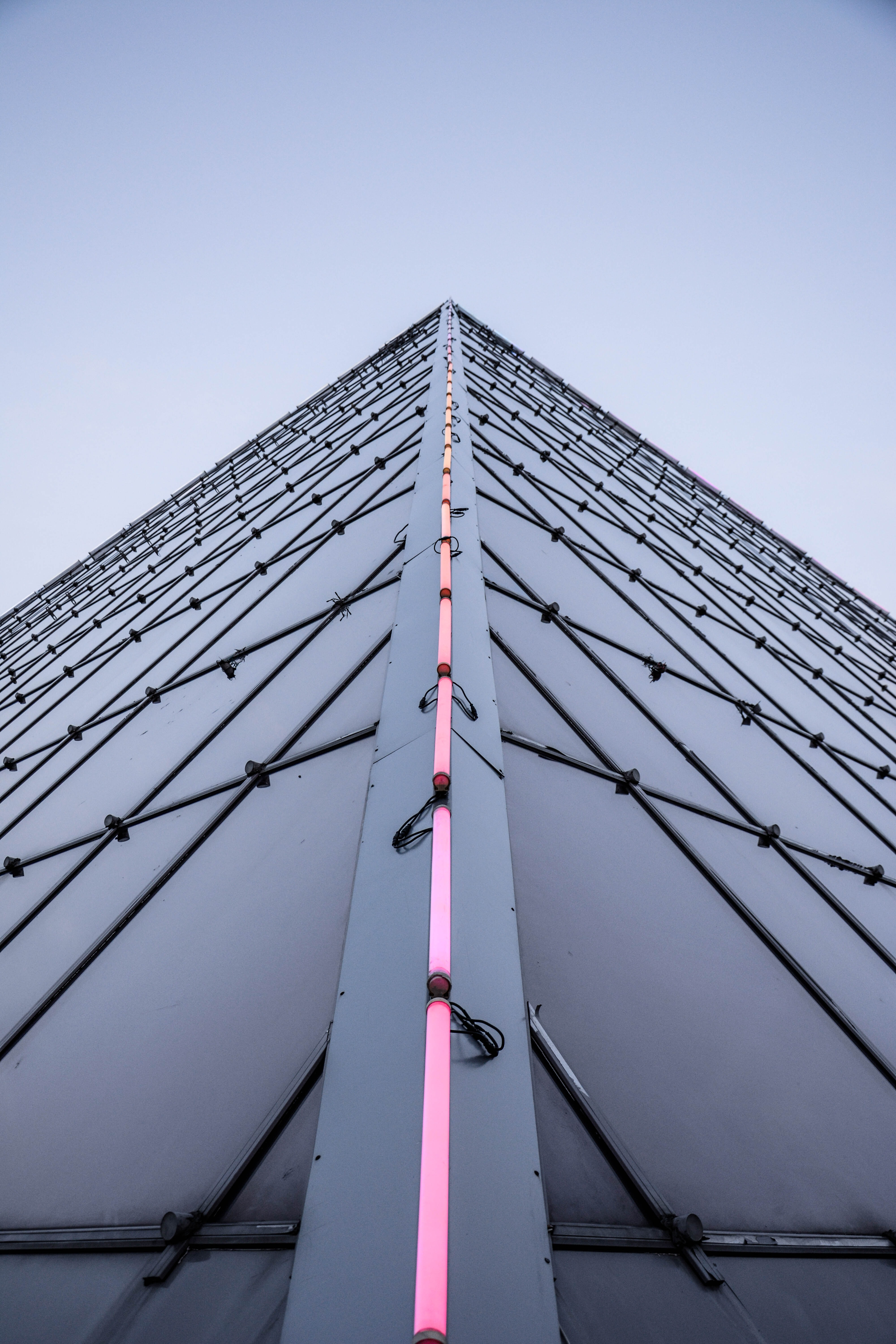 gray and pink concrete building