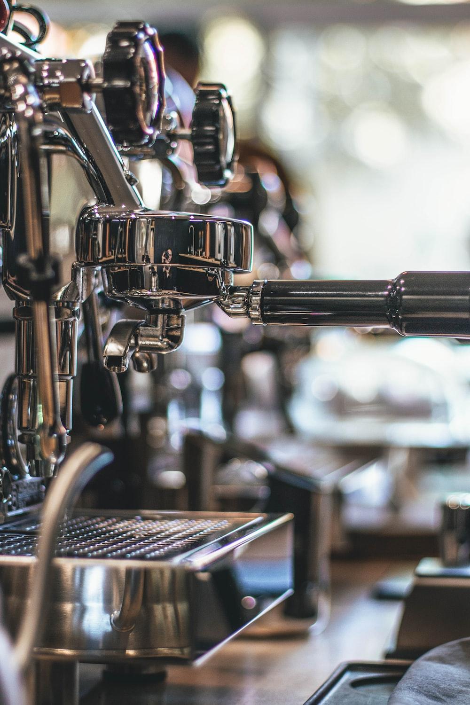 selective focus photography of espresso maker