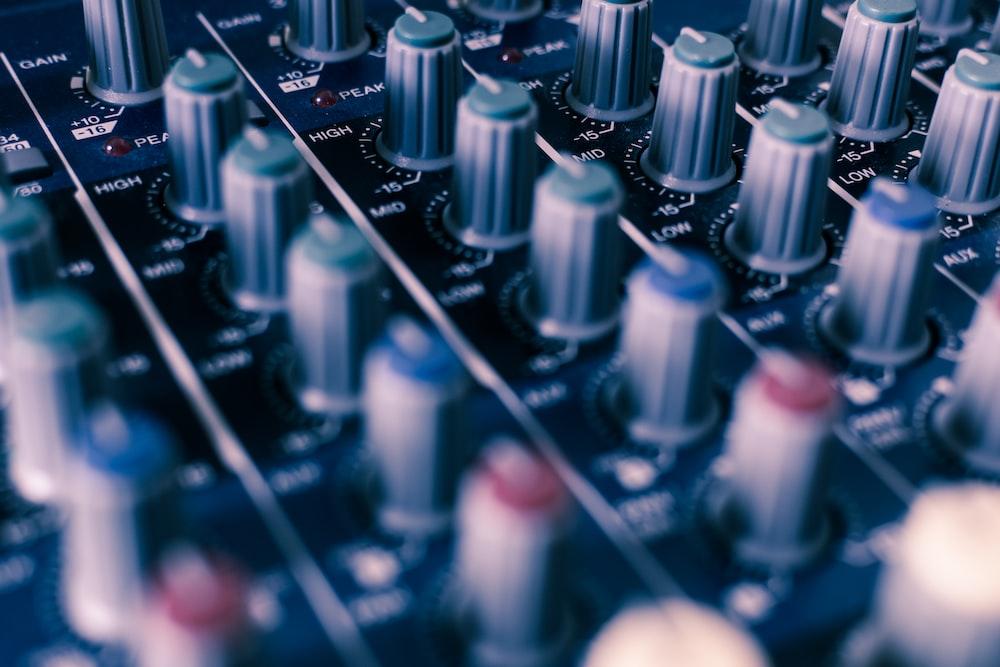 closeup photo of audio equalizer