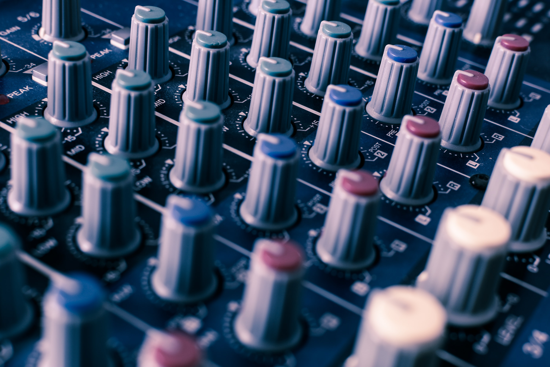 photo of mixer tuner knob