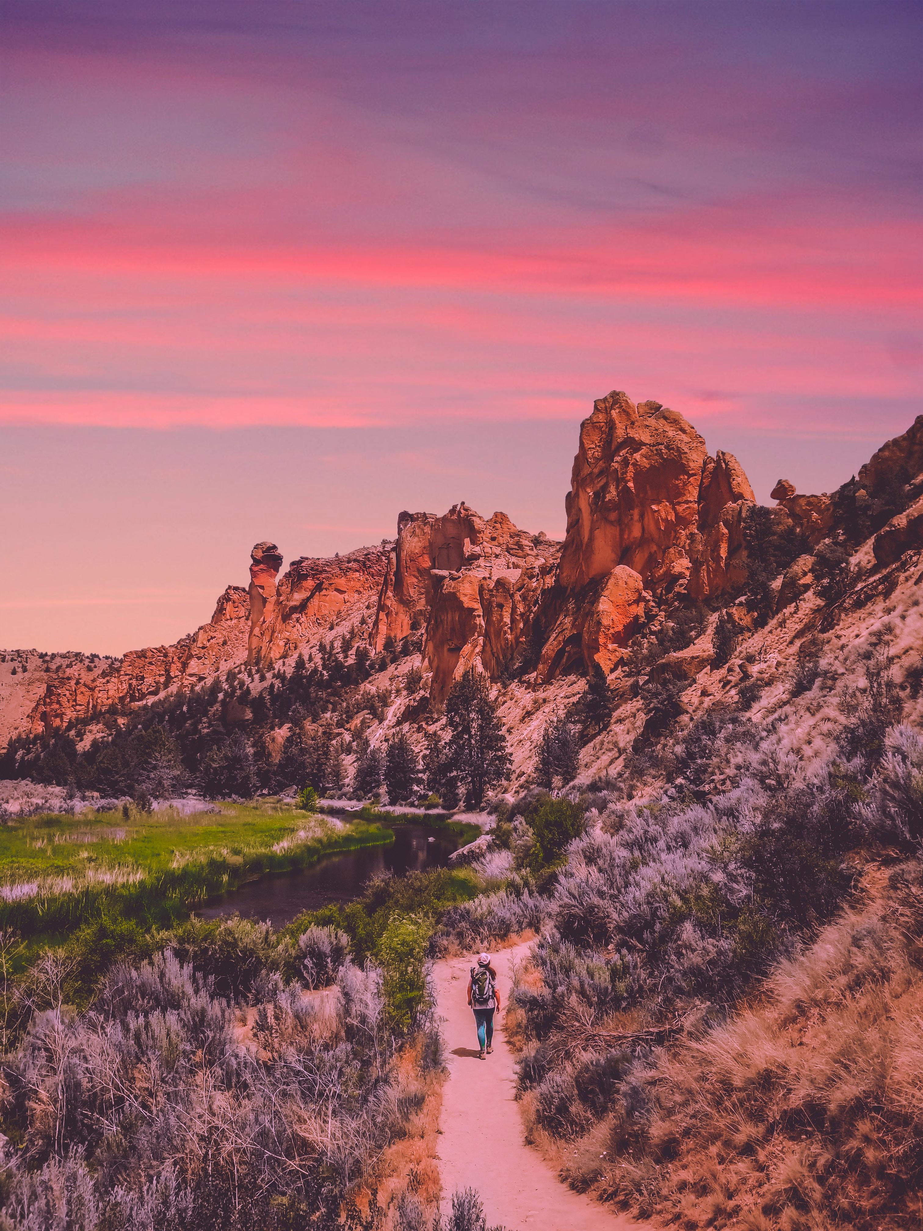 canyon during sunset