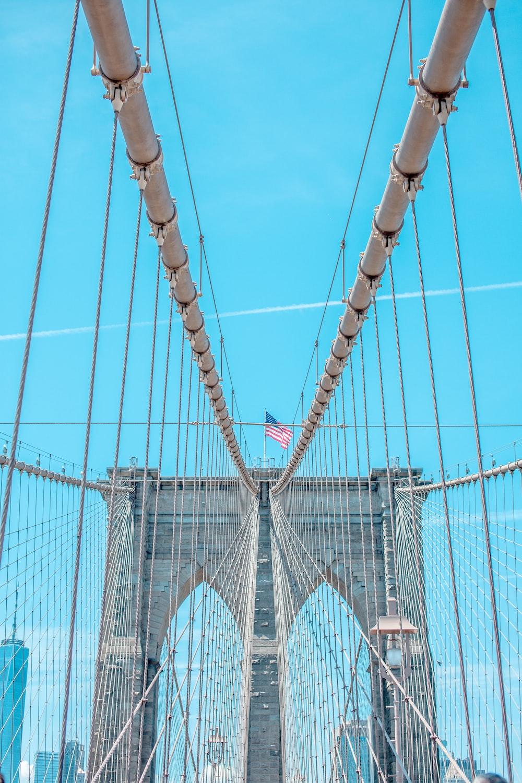 Brooklyn Bridge, U.S.A. during daytime