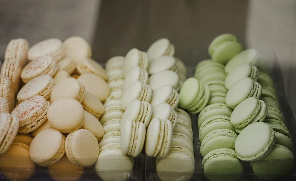 assorted-flavor macaroons