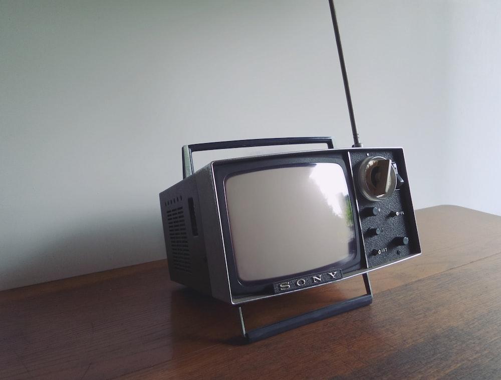 gray and black Sony portable mini television