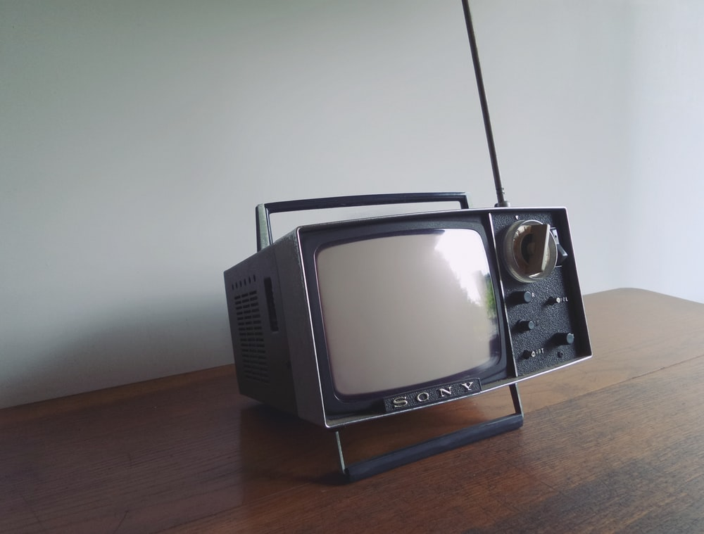 gray and black Sony portable mini television