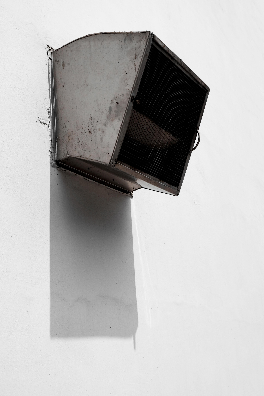 gray metal industrial air vent