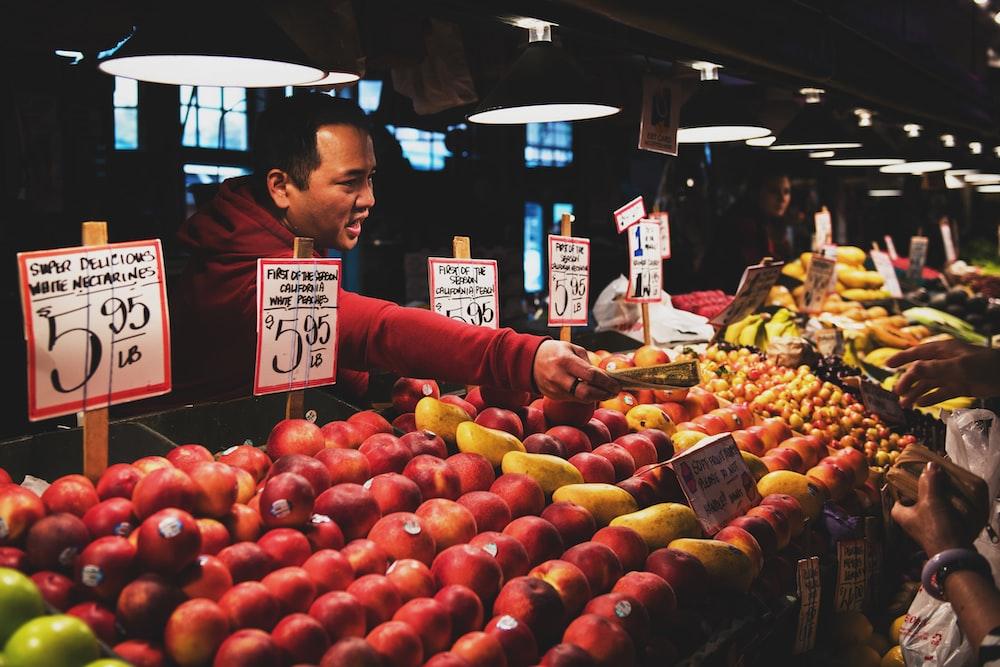man selling fruits