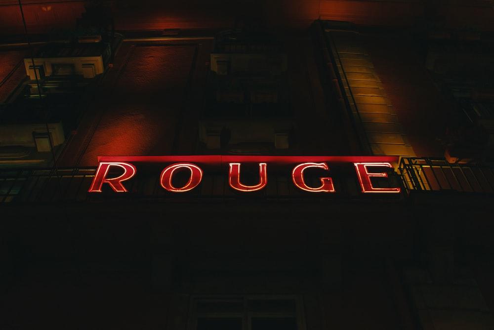 Rouge LED signage