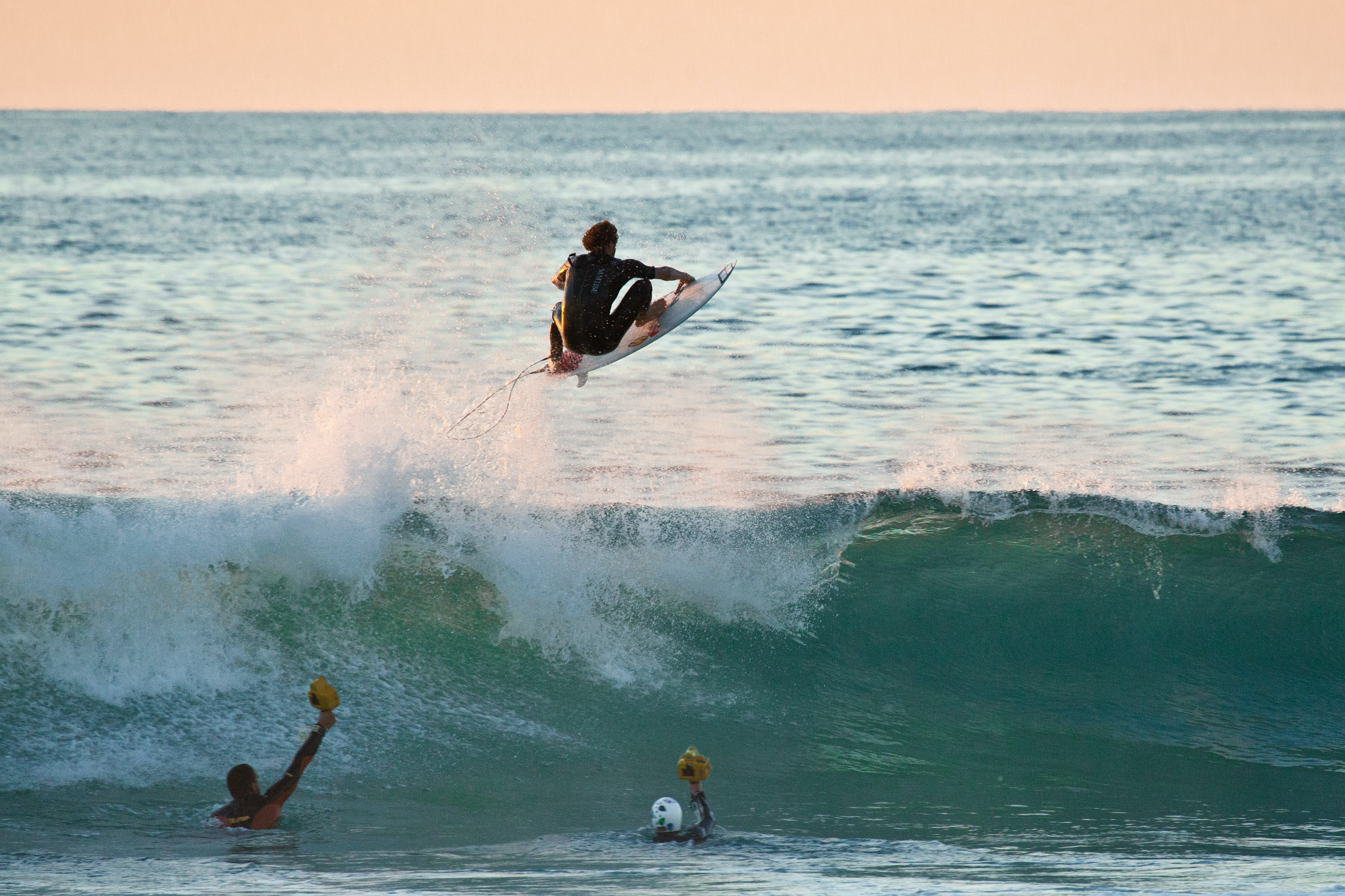 person doing surfing