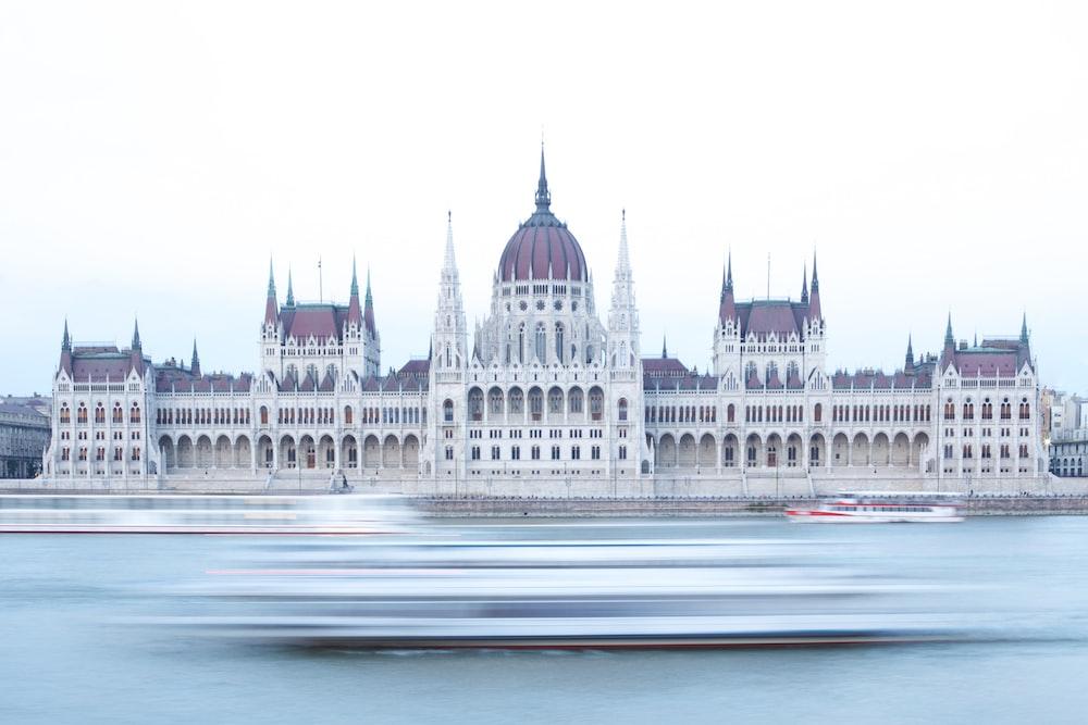 time-lapse photo of white castle