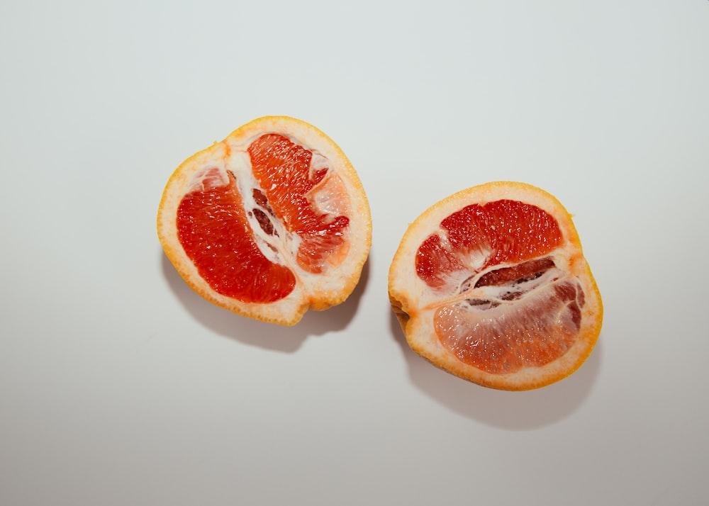 sliced blood lemon