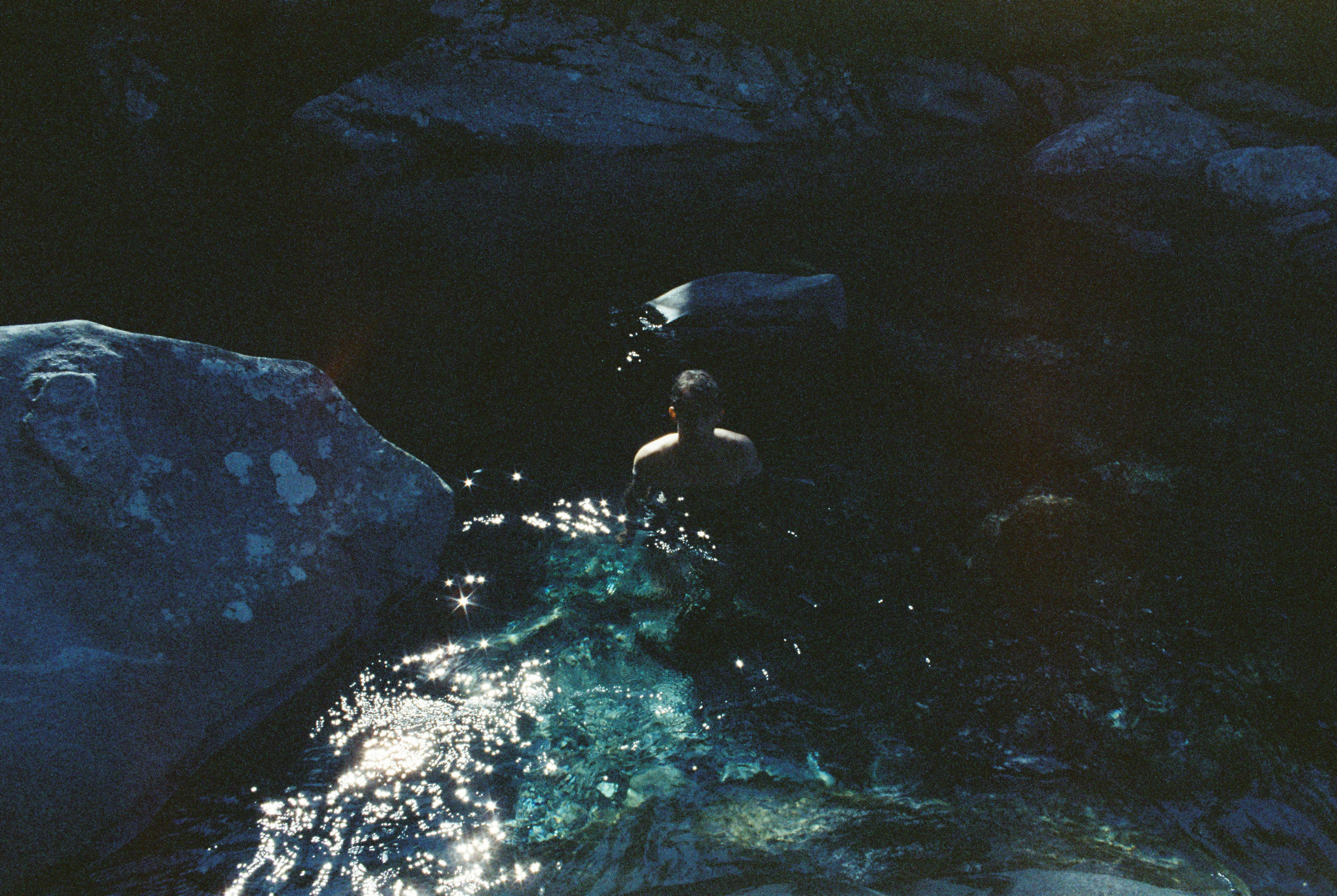 A short and slightly treacherous hike down to The Chasm - the water was clear but cold. Shot on Cinestill 800Tungsten HighSpeed Color Film
