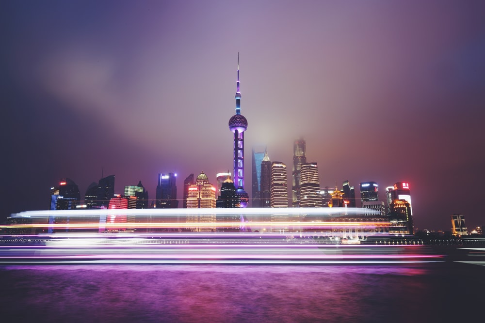 time-lapse photography of Oriental Pearl Tower