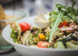 selective focus photography of vegetable salad