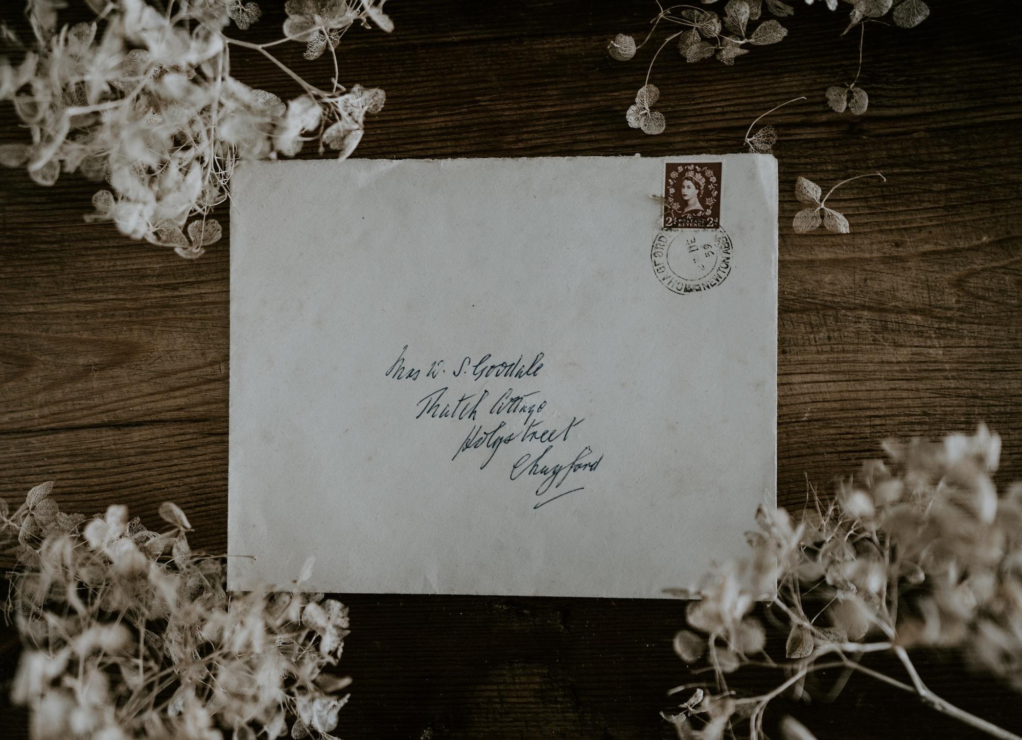Vintage envelope and stamp