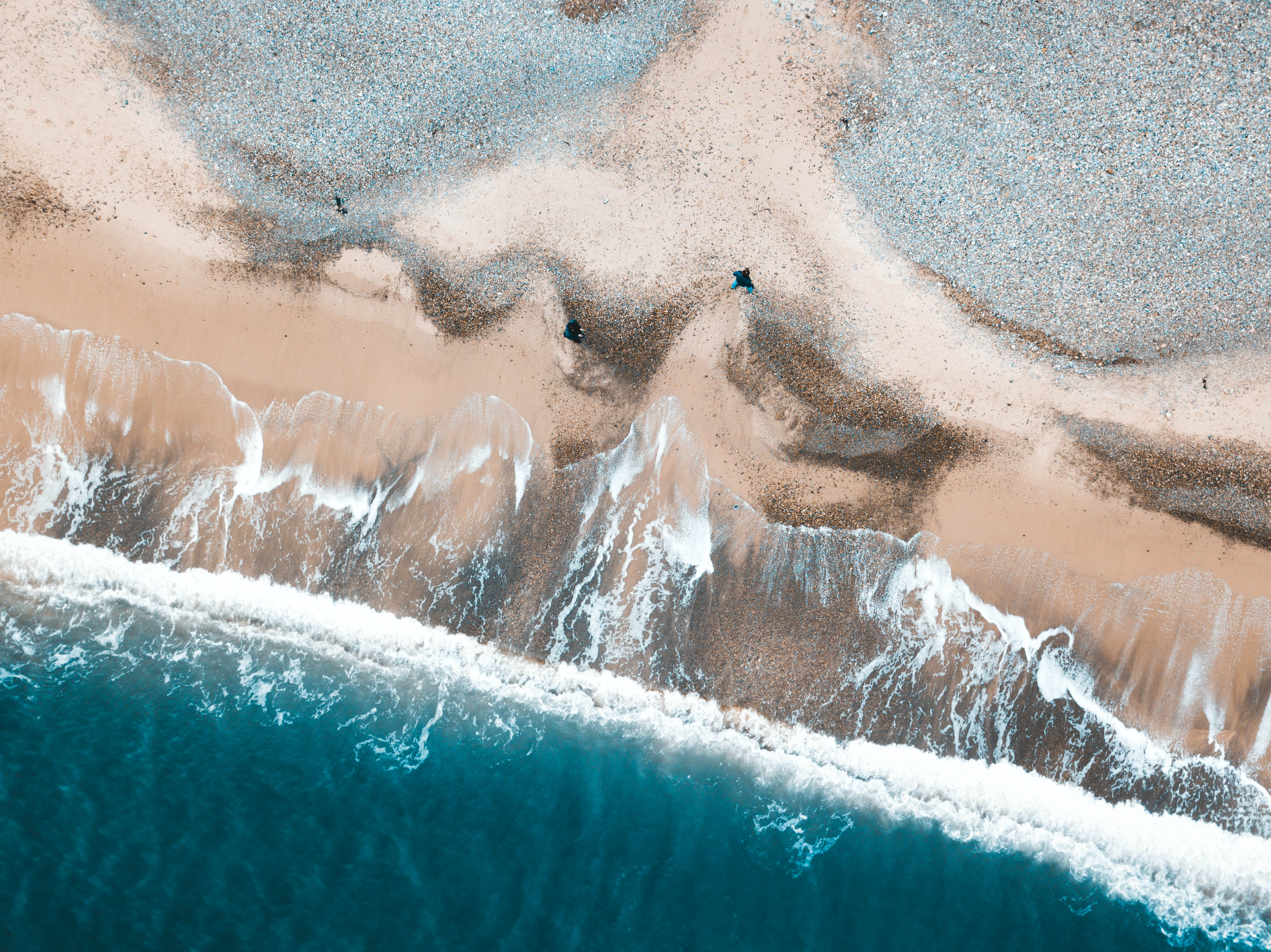 aerial photography of coast