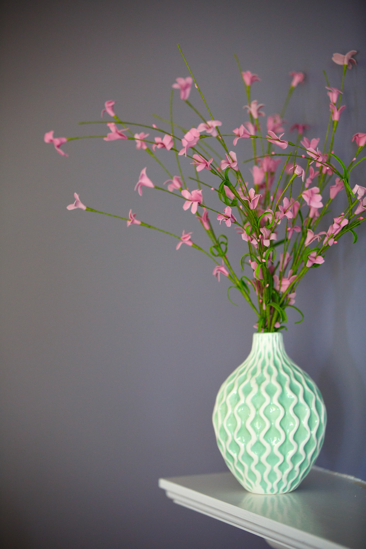 pink petaled flowers on green vase & Vase Pictures   Download Free Images on Unsplash