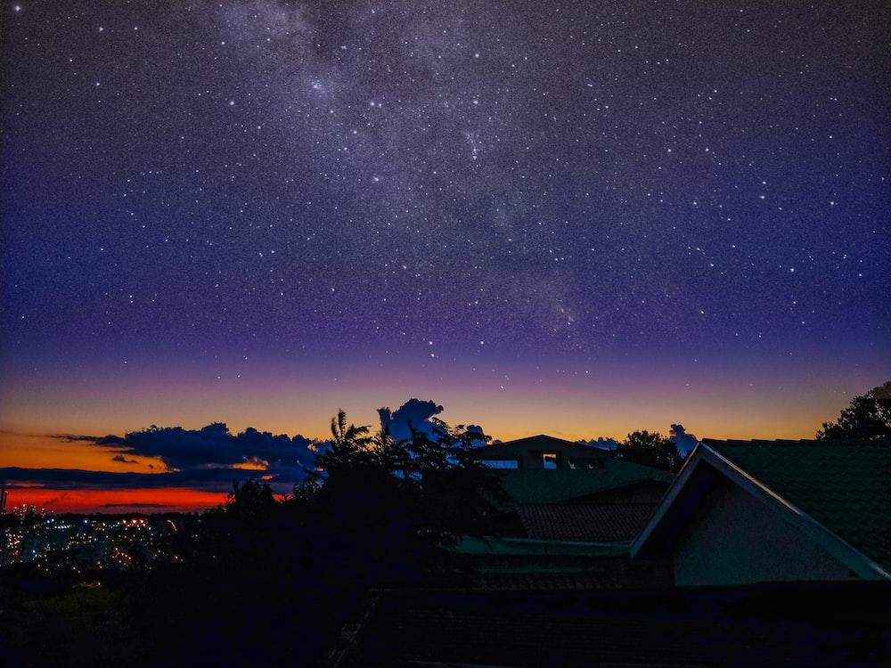 black sky during nighttime