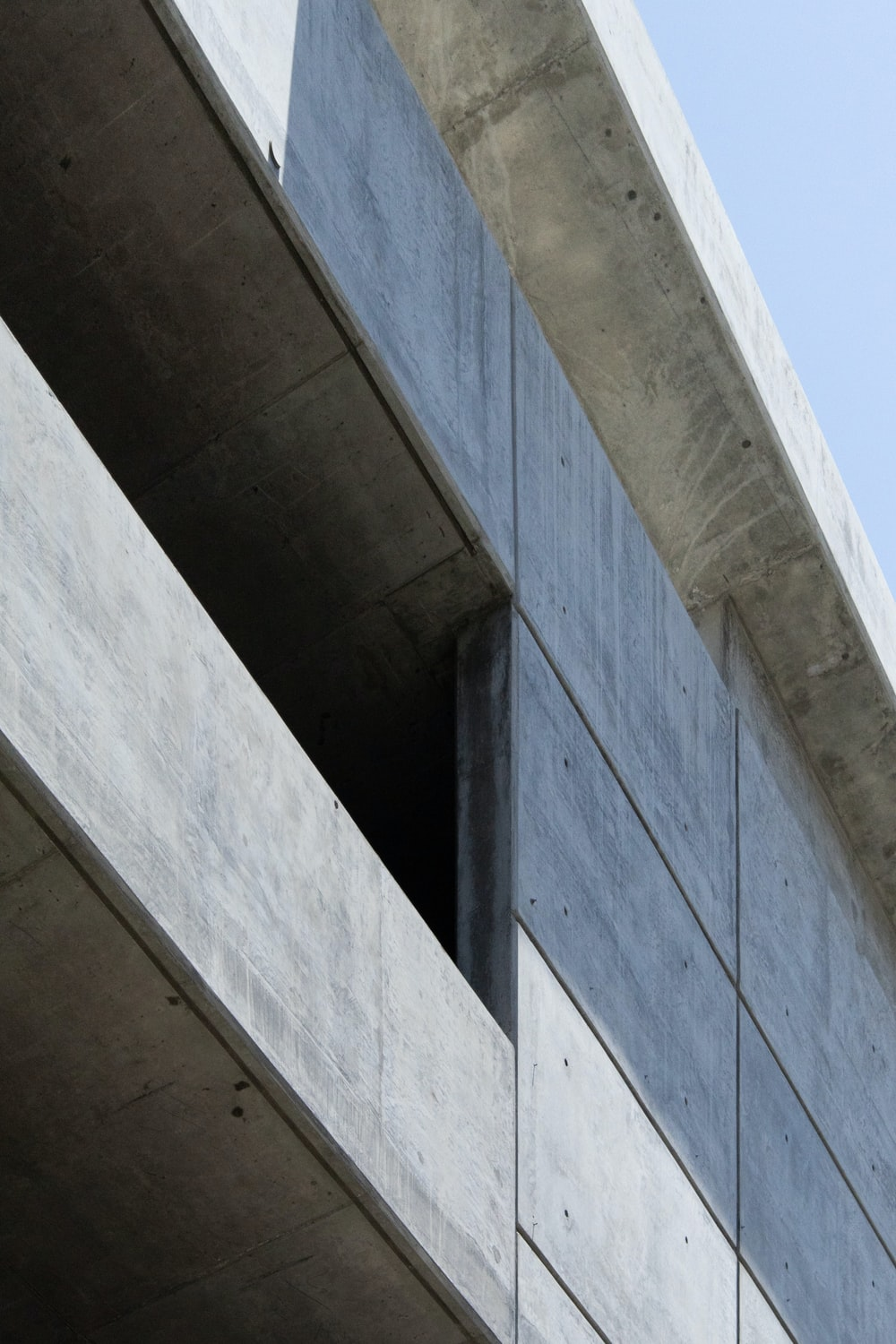 architectural photography of concrete building