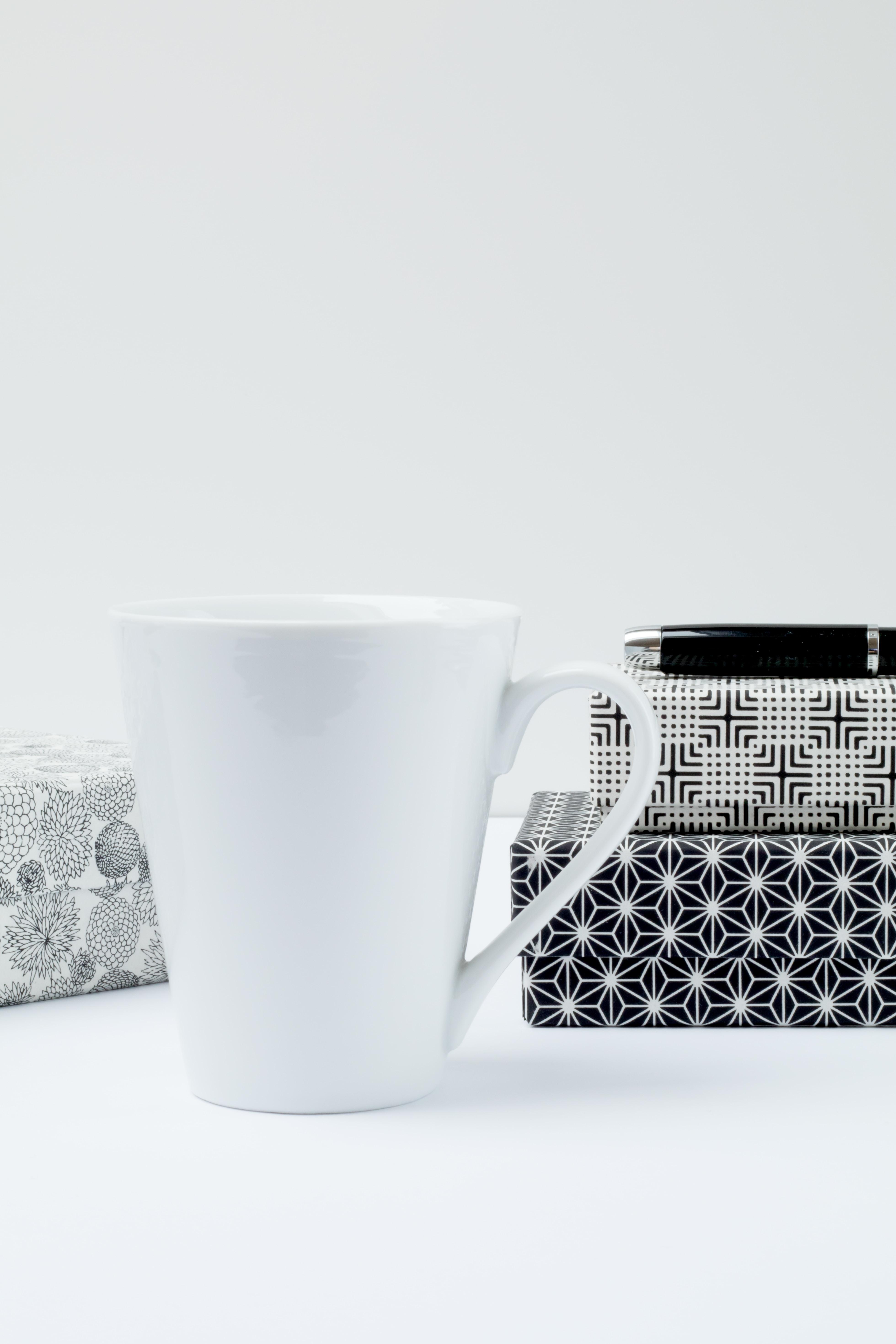 white ceramic coffee mug