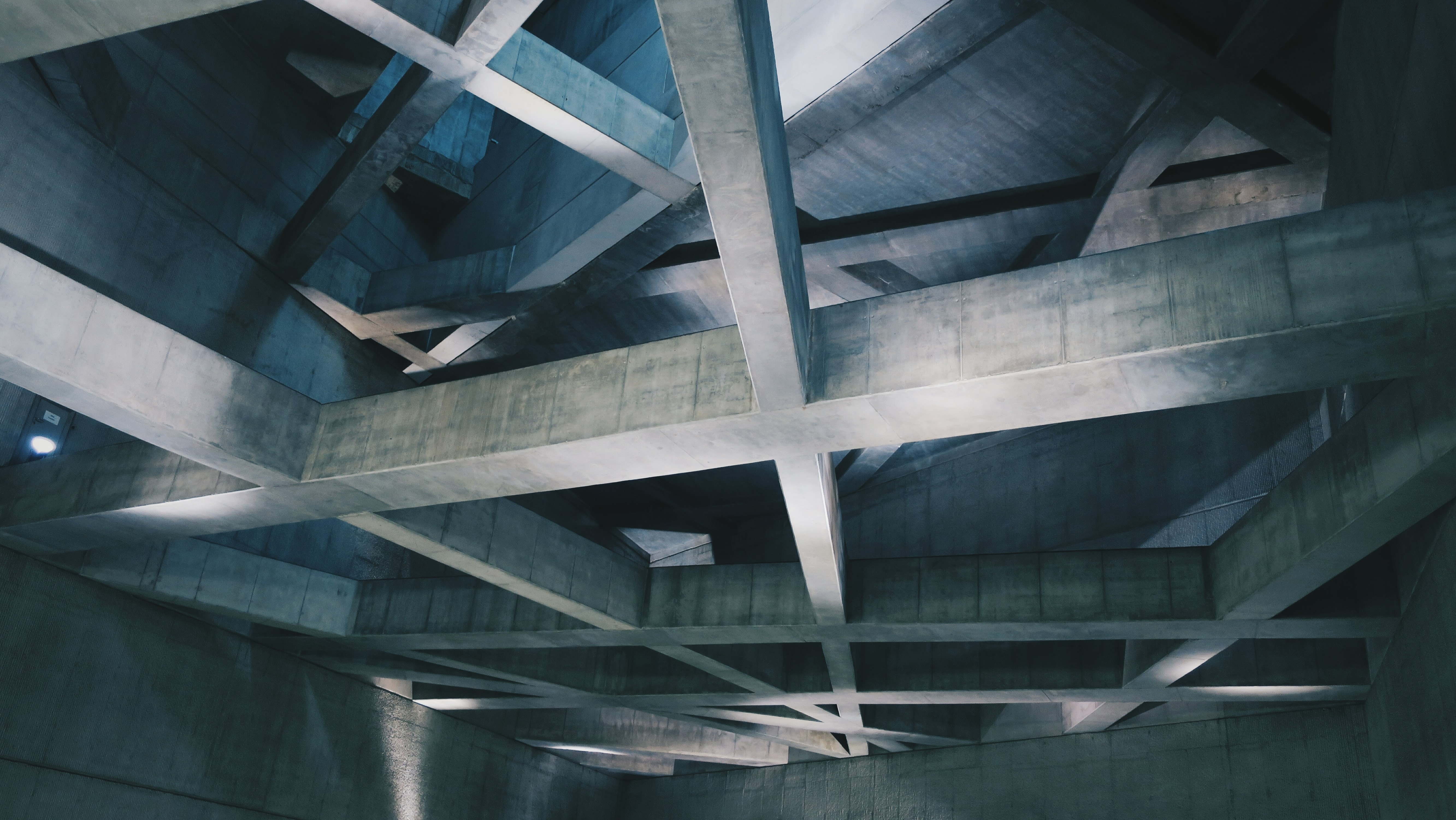 photo of brown wooden building ceiling