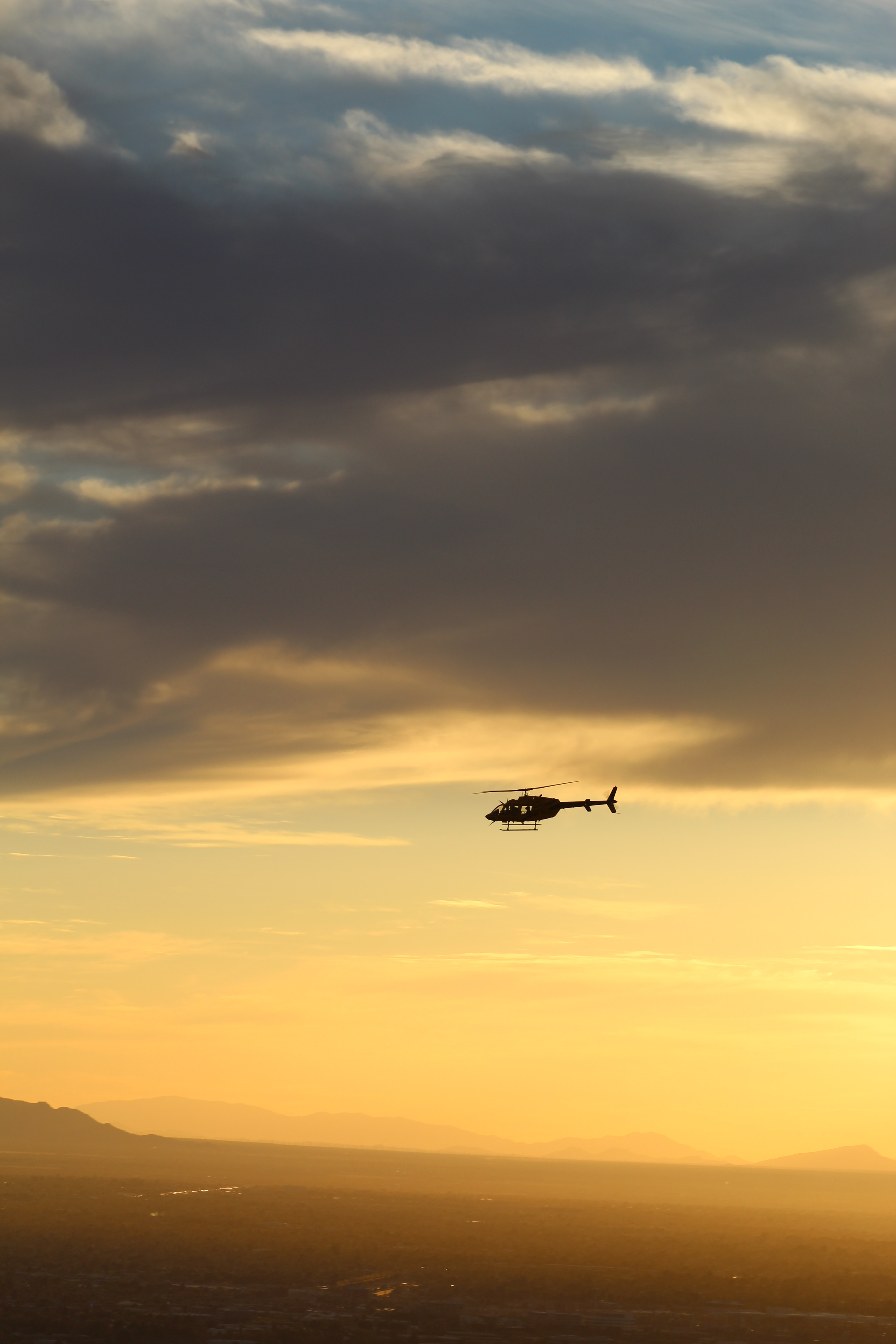 black helicopter on air