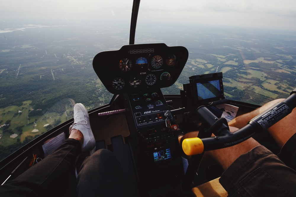 black helicopter control panel