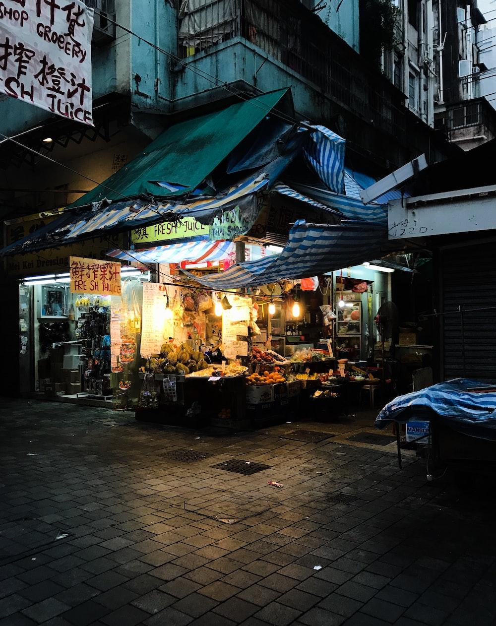 vegetable store near road
