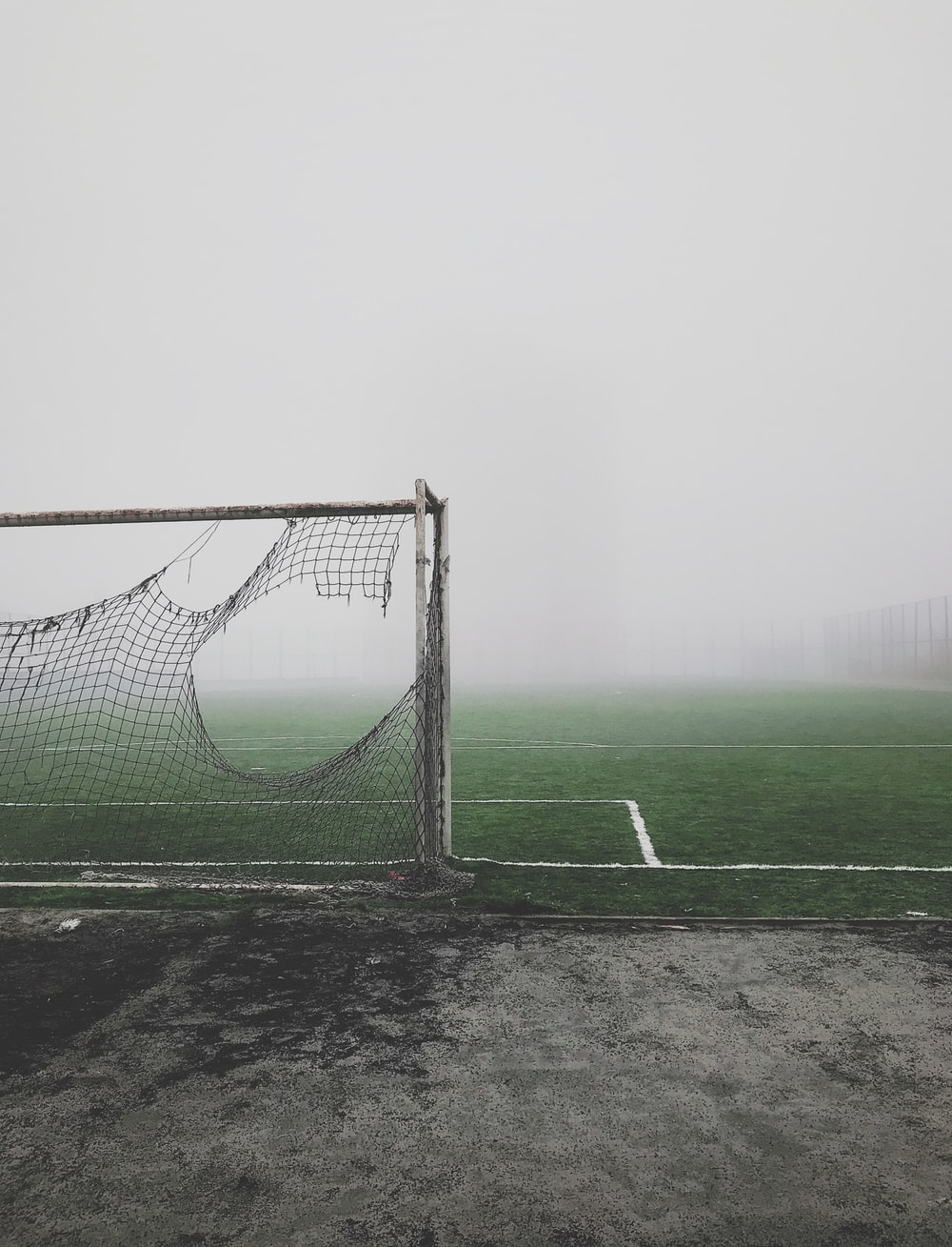 gray and white soccer goal