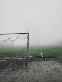gray and white soccer goal
