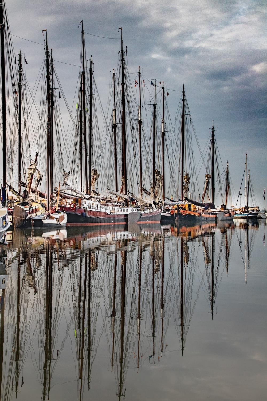 fishing boats on port