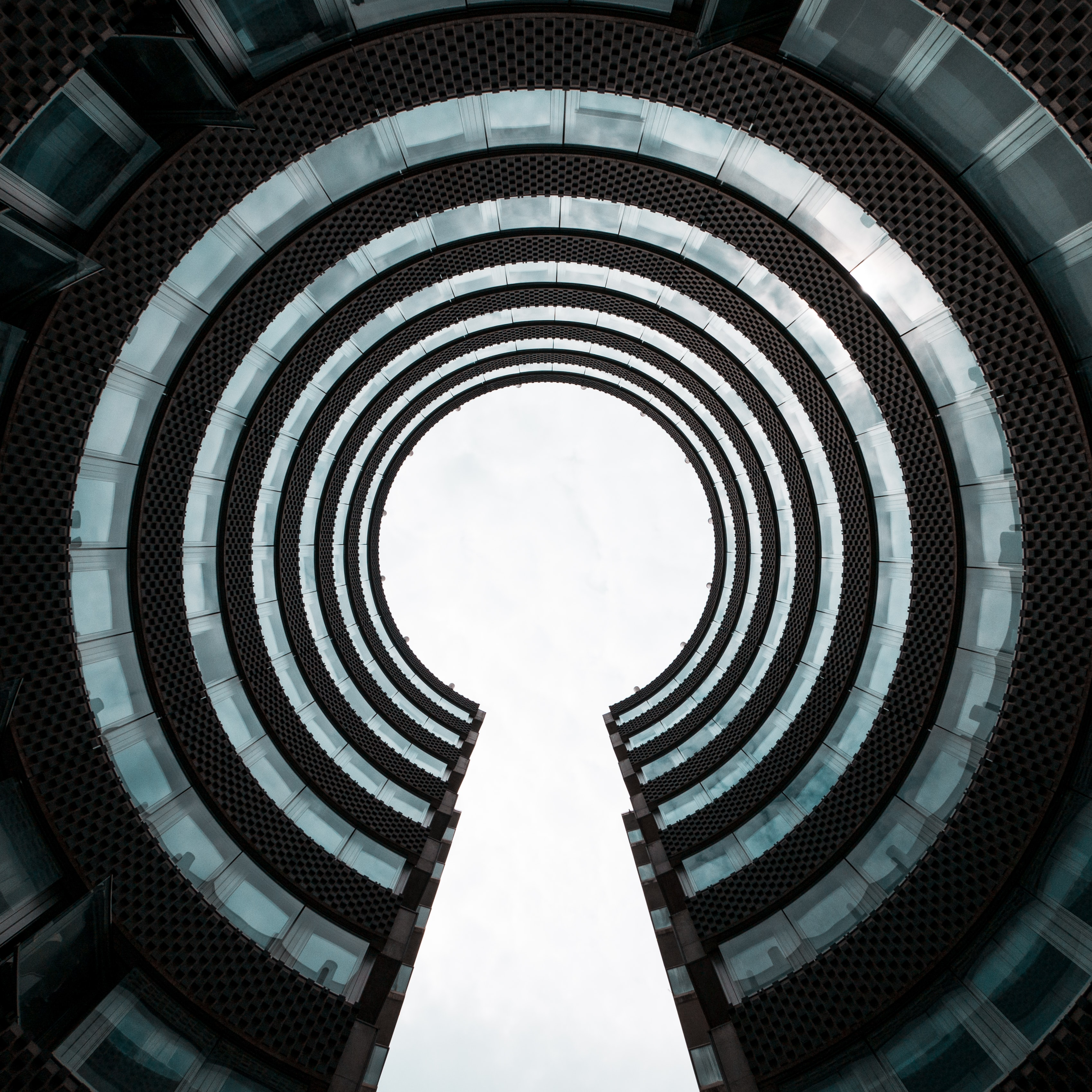 architectural photography of round building
