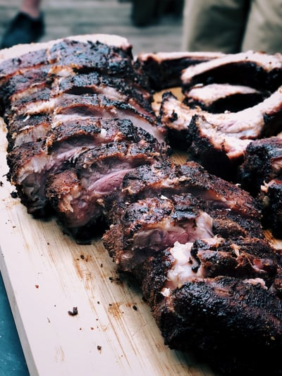 board of grilled meats