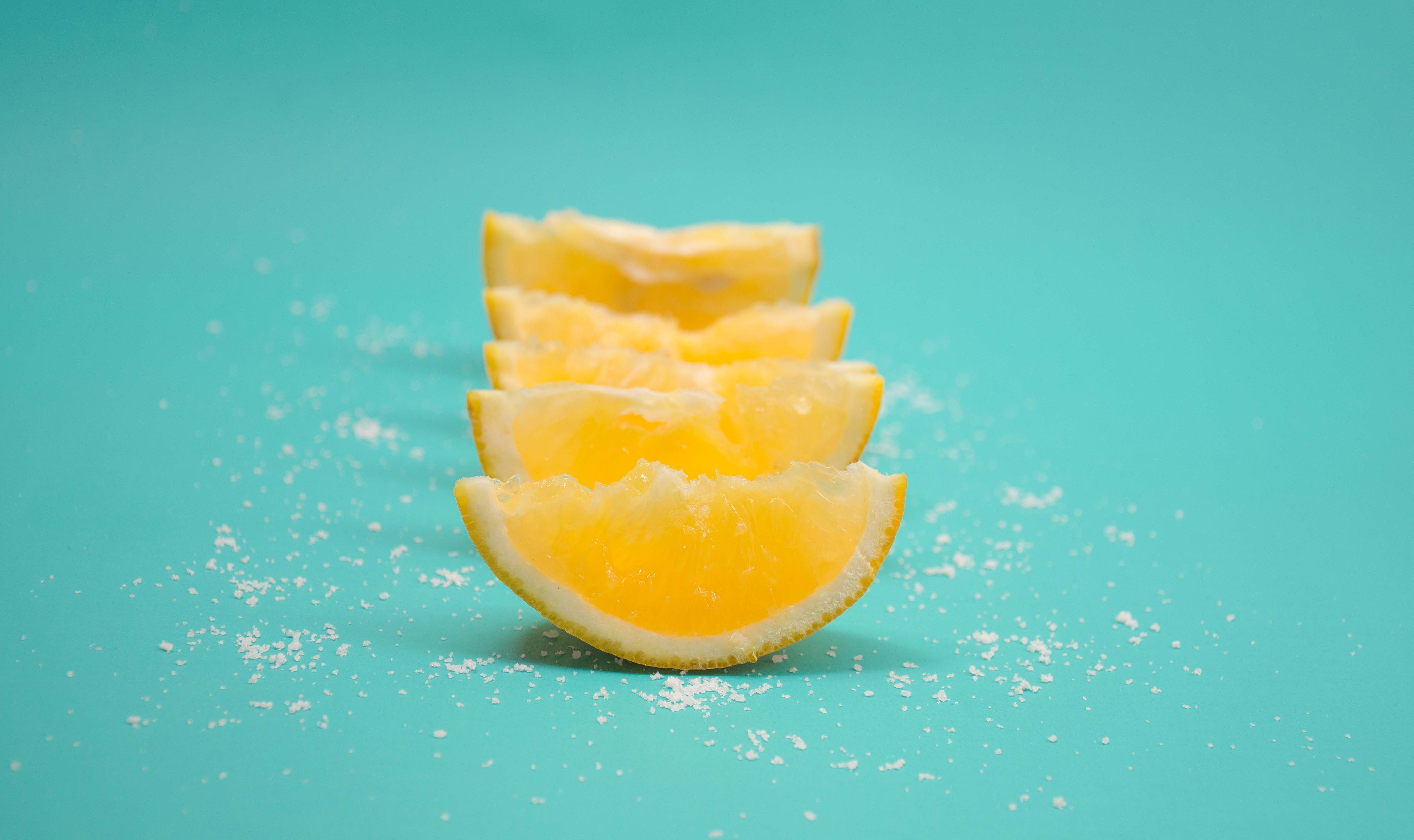 slice of yellow citrus fruits