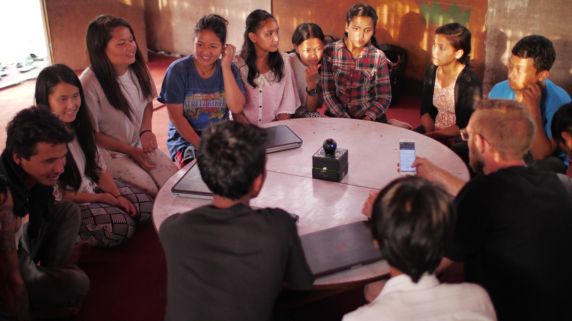 We were in one of the slums in Kathmandu. Kids, there are still deprived of access to the technology. We are there to break that barrier and give new opportunities.  @DisasterHack