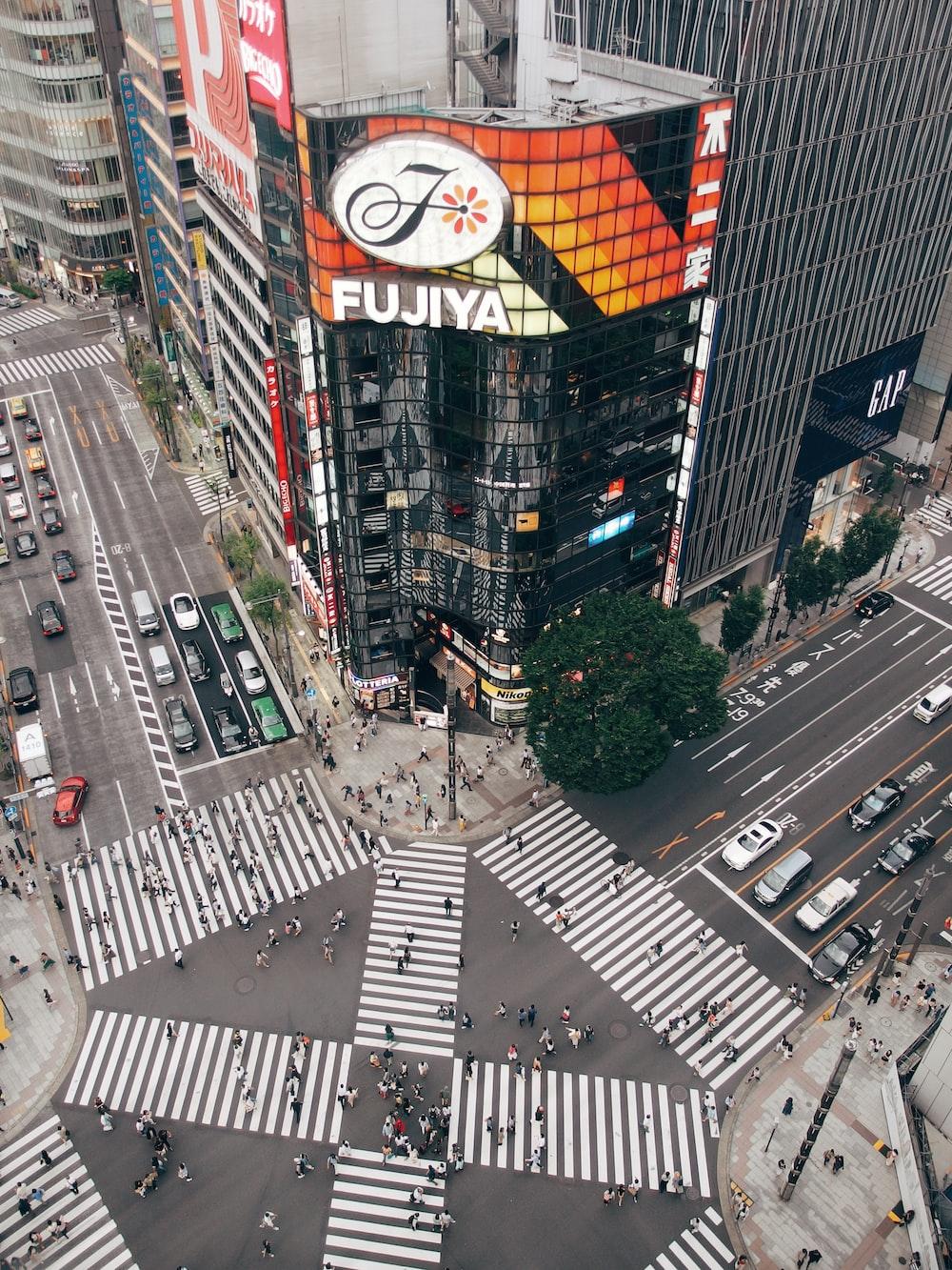 aerial view photography of Fujiya building