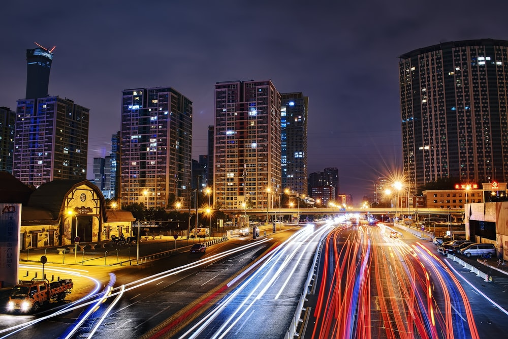 time lapse photography of vehicle during nighttime