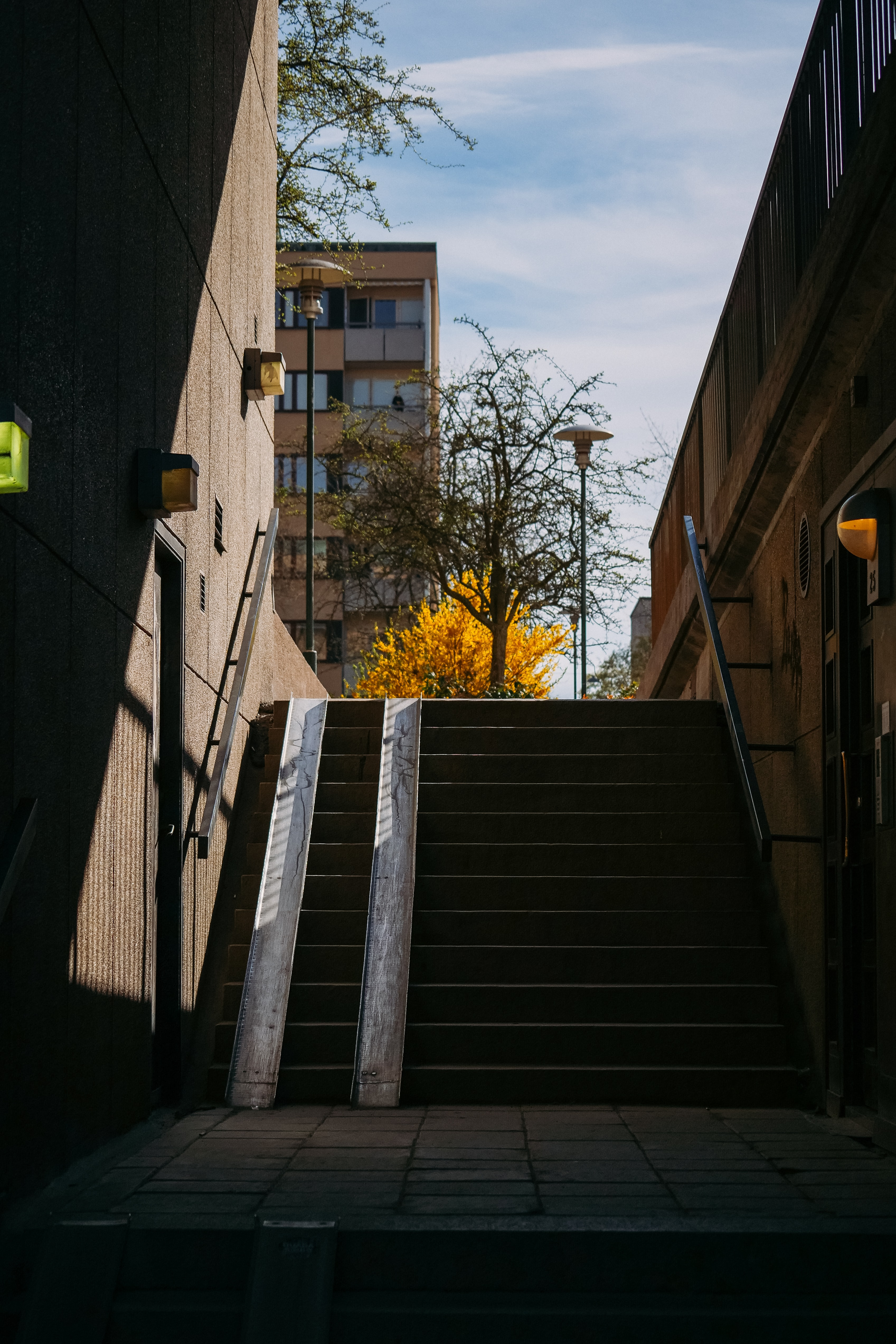 empty stairs during daytime