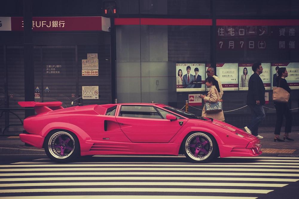 Car Lamborghini Countach And Pink Hd Photo By Al Soot Anspchee