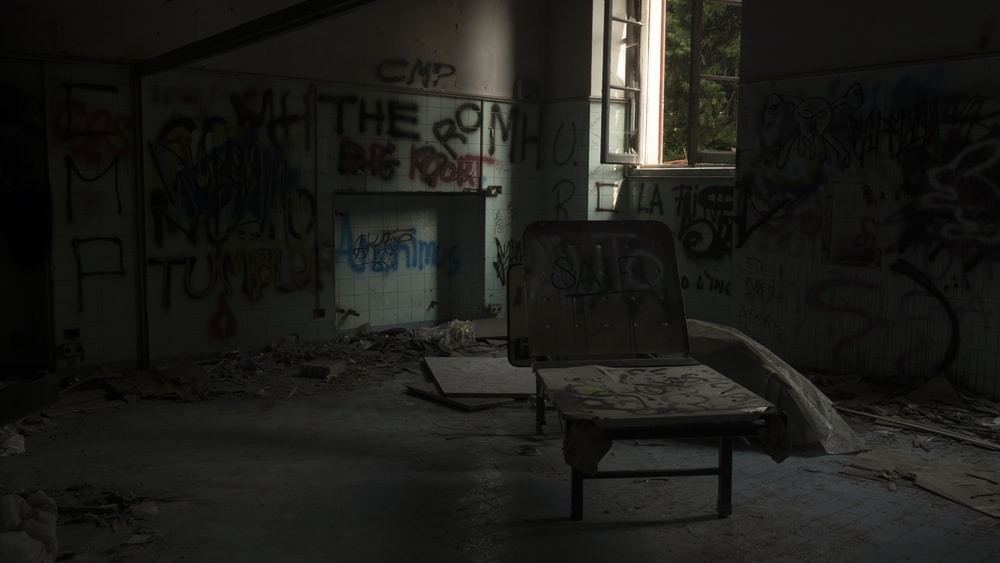black wooden chair on abandoned room