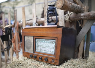 brown transistor radio